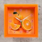 "Часы настенные, серия: Кухня, ""Апельсин"", оранжевая рамка, 20х20 см микс"