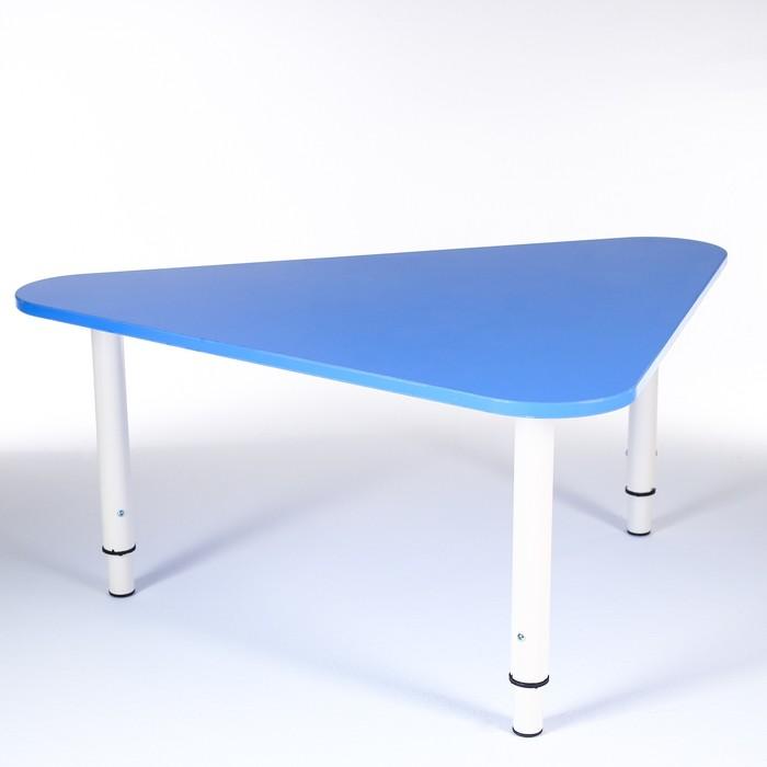 Стол Треугольник растущий гр.0-3 на металлокаркасе, Синий