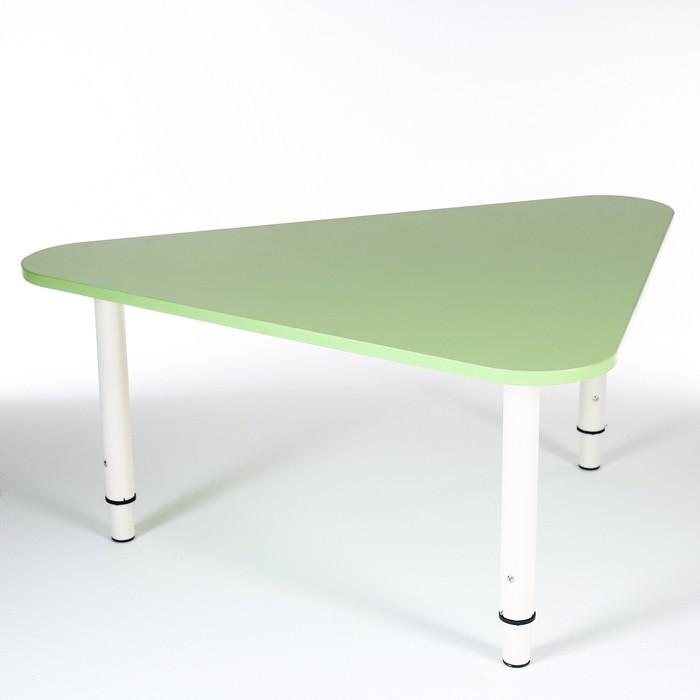 Стол Треугольник растущий гр.0-3 на металлокаркасе, Зеленый степной