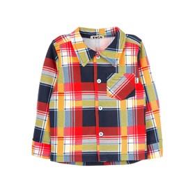 Сорочка для малышей, рост 80-86 см, цвет сине-красный Ош