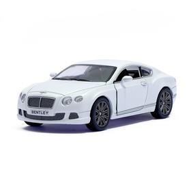 Машина металлическая Bentley Continental GT Speed, 1:38, открываются двери, инерция, цвет белый