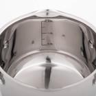 Кастрюля Magistro Tefida, 1,7 л, крышка-дуршлаг, носик для слива, капсульное дно, силиконовые ручки - Фото 5
