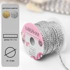 Нить для плетения, d = 2 мм, 15 ± 1 м, цвет серебряный №19