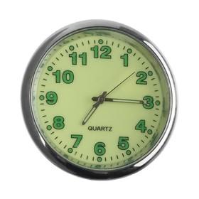 Часы автомобильные, внутрисалонные, d 4.5 см, фотолюминесцентный циферблат Ош