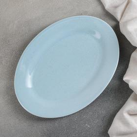 Блюдо Доляна «Амелия», 24,5×18 см, цвет голубой