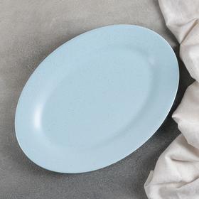 Блюдо Доляна «Амелия», 29,5×20,5 см, цвет голубой