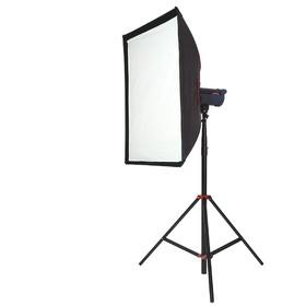 Софтбокс с сотами SBQ-80100 BW для студийных вспышек и галогеновых осветителей Ош
