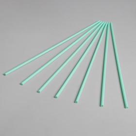 Трубочка для шаров, длина 41 см, d=6 мм, цвет бледно-зелёный