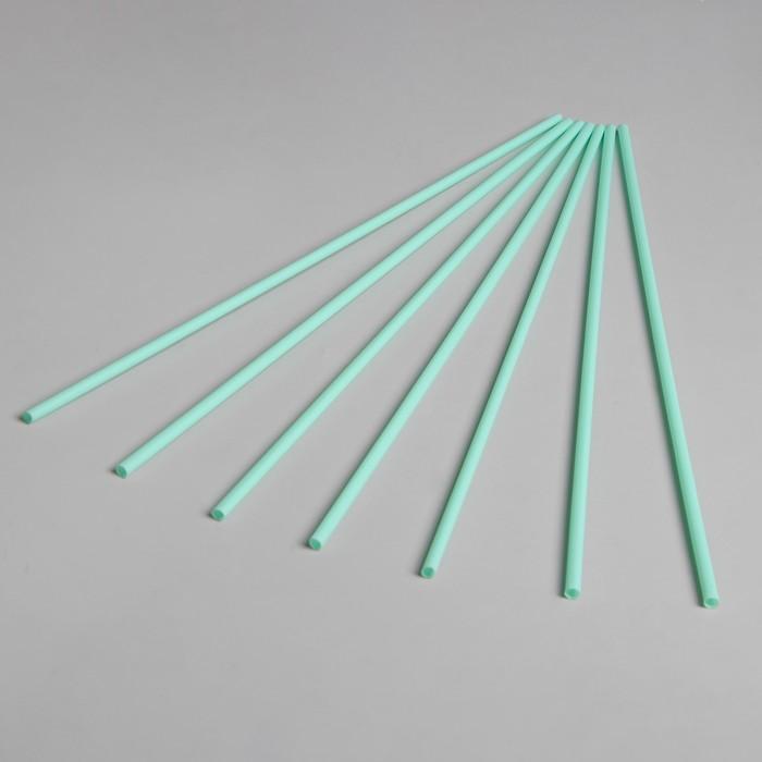 Трубочка для шаров, флагштоков и сахарной ваты, длина 41 см, d6 мм, цвет бледно-зелёный