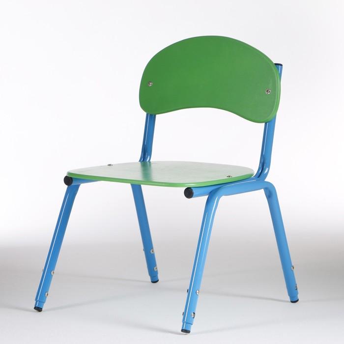 Стул детский штабелируемый Сема гр.1-3, Зеленый/Синий