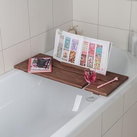 Полка для ванной SPA, с покрытием, цвет коричневый Ош