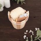 Набор банный, 3 предмета: мочалка, расчёска, пемза