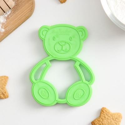 Форма для печенья и пряников Леденцовая фабрика «Мишка», цвет зелёный - Фото 1