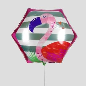 """Шар фольгированный 20"""" «Фламинго», многоугольник"""