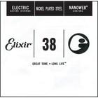 Отдельная струна для электрогитары Elixir 15238 Nanoweb никелированная, .038