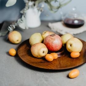 Блюдо с отделением для соуса из натурального кедра Mаgistrо, 33×2,5 см, цвет шоколадный