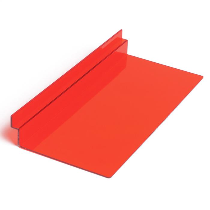Полка для экономпанелей, для обуви прямоугольная, 25*11,5*3,5, цвет красный