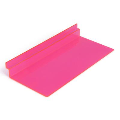 Полка для экономпанелей, для обуви прямоугольная, 25*11,5*3,5, цвет розовый