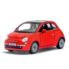 Машина металлическая Fiat 500, 1:28, открываются двери, инерция, цвет белый