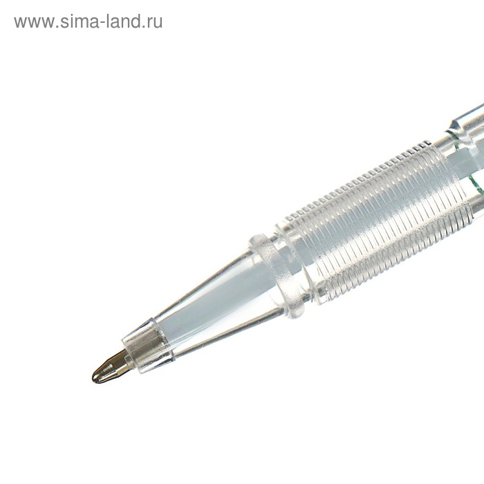 Ручка шариковая 0,5мм на подставке Стоп с липучкой и шнуром стержень синий, корпус ЗЕЛЕНЫЙ