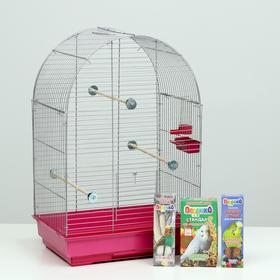 Акция для волнистого попугая! Клетка, корм, лакомство, жёрдочка Ош