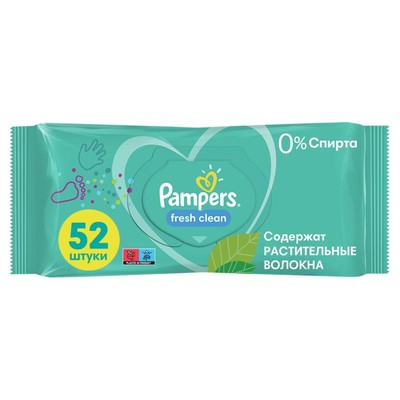 Влажные салфетки Pampers Fresh Clean, детские, 52 шт. - Фото 1