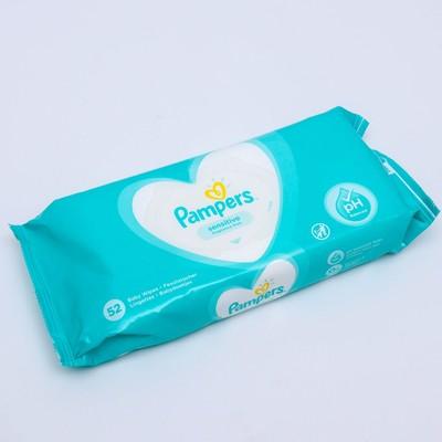 Влажные салфетки Pampers Sensitive, детские, 52 шт. - Фото 1