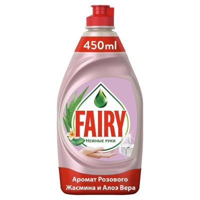 Средство для мытья посуды Fairy «Нежные руки», жасмин и алоэ вера, 450 мл - Фото 1