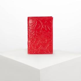 Визитница вертикальная, 1 ряд, 18 листов, цвет красный