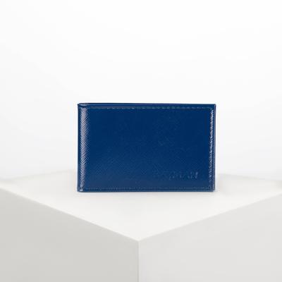 Визитница горизонтальная, 1 ряд, 20 листов, цвет синий