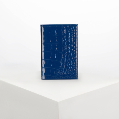 Визитница вертикальная, 1 ряд, 18 листов, цвет синий