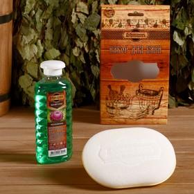 Подарочный набор 'Добропаровъ': шампунь 'Репейник' и мочалка для тела Ош