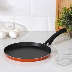 Сковорода блинная «Шёлк», d=25 см, антипригарное покрытие, цвет чёрный
