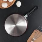 Сковорода блинная «Хит», d=22 см, антипригарное покрытие, цвет чёрный - Фото 3