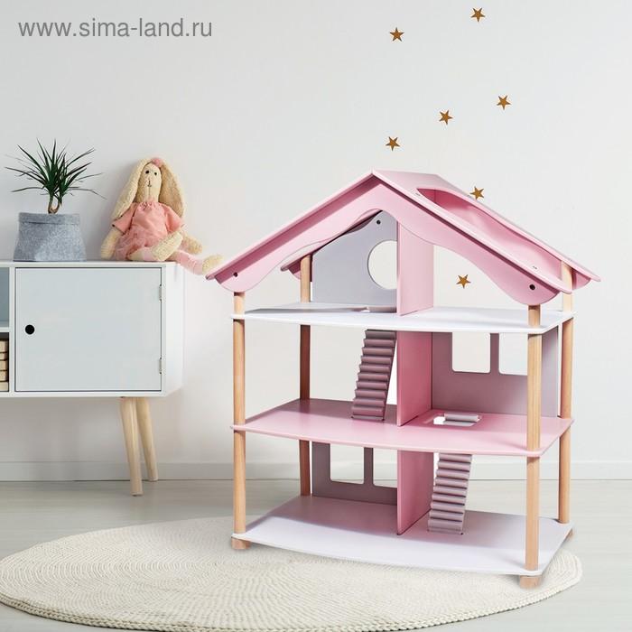 """Дом кукольный """"Уютный уголок"""" (розовый)"""