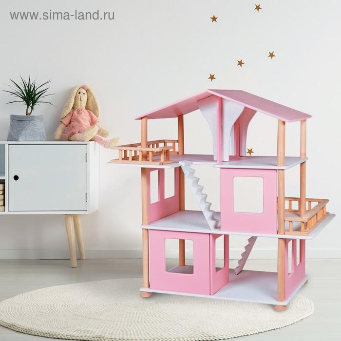 """Дом кукольный """"Венецианский дом"""" (розовый)"""