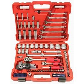 """Набор инструментов Perfect Tools PT-S4124A-BS1, 1/4"""",1/2"""", 124 предмета"""