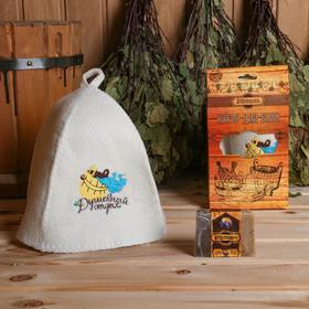 Подарочный набор 'Добропаровъ': шапка 'Душевный отдых' и мыло натуральное Ош