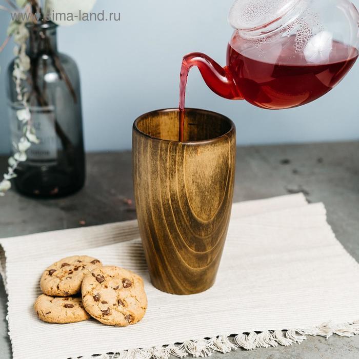 Стакан из натурального кедра Magistro, 450 мл, 15×9,5 см, цвет коричневый
