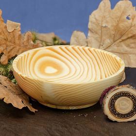 Тарелка из натуральной пихты, 400 мл, 17x5.5 см, цвет молочный