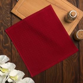 Полотенце вафельное Элиза 055 30х30 см, красный, хлопок 100%, 200г/м2