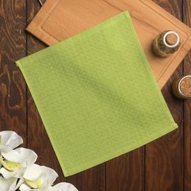 Полотенце вафельное Элиза 061 30х30 см, зелёное яблоко, хлопок 100%, 200г/м2 Ош