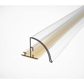 Ценникодержатель полочный закругленный, 1330 мм, цвет прозрачный Ош