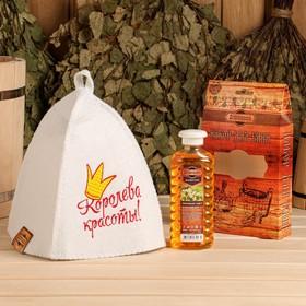 Подарочный набор 'Добропаровъ': шапка 'В здоровом теле' и шампунь Ош