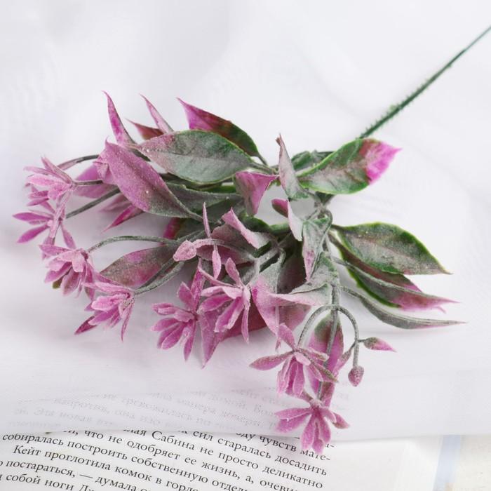 """Букет """"Цветочки с листиками"""" 22 см, (с напылением), микс"""