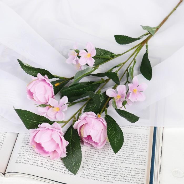 купить Цветы искусственные Пионы Нежное признание 569 см, сиреневый