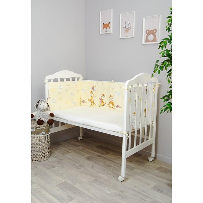 Борт в кроватку «Жирафик», 360 × 45 см, бежевый