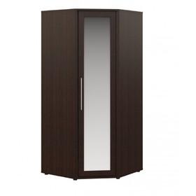 Шкаф угловой с зеркалом «Токио», 960 × 960 × 2140 мм, цвет венге