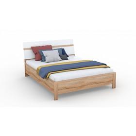 Кровать «Дакота» без ПМ, 1600х2000, без основания, цвет дуб сонома / белый глянец