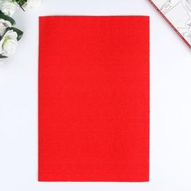 Фоамиран махровый 20х30 см, 2 мм, красный